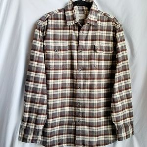 JACHS Thick flannel! Long sleeve button up size L